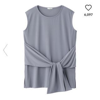 ジーユー(GU)のウエストリボン  Lサイズ(シャツ/ブラウス(半袖/袖なし))