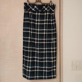ザラ(ZARA)の【ZARA trf】グリーンチェックタイトスカート(ひざ丈スカート)