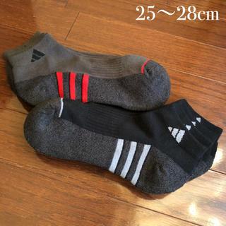 アディダス(adidas)のアディダス メンズ 靴下 ソックス CLIMALITE  4足組 25〜28cm(ソックス)