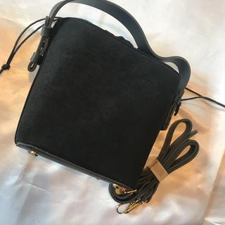 ラスト◆新品保管品◆黒スゥエード◆2way巾着型バッグ◆(ショルダーバッグ)