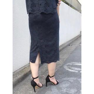 Noble - NOBLE ヴィンテージリーフレースタイトスカート