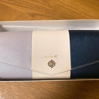 ヨンドシー(4℃)のルリア4℃  ブルーホワイトバイカラー 長財布(財布)
