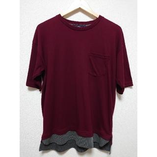 レイジブルー(RAGEBLUE)のレイジブルー 裾柄切り替えTシャツ(Tシャツ/カットソー(半袖/袖なし))
