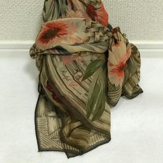ビンテージRalph Lauren シルクシフォンスカーフ Flower