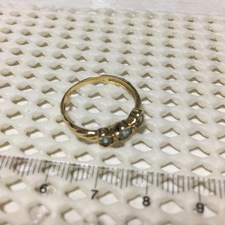 k18 アクアマリン ダイヤ リング ダイヤモンド 指輪(リング(指輪))