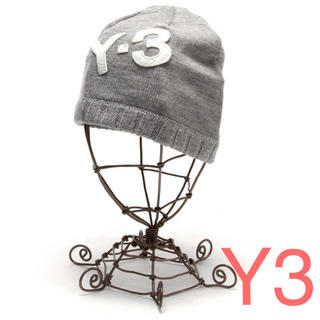 ワイスリー(Y-3)のY-3 (ワイスリー)Yohji Yamamoto ニットキャップ 灰色(ニット帽/ビーニー)