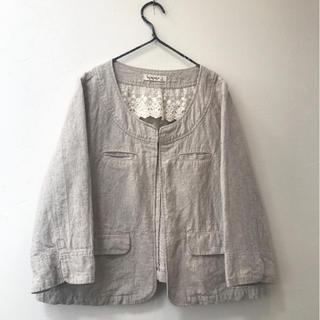 サマンサモスモス(SM2)のSM2 リネン ジャケット/ 無印良品 ICHI ネストローブ カリネ 好きに♪(ノーカラージャケット)