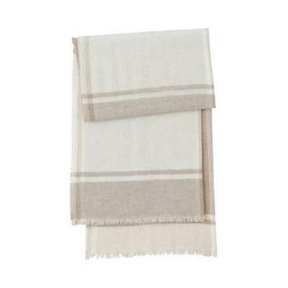 MUJI (無印良品) - 新品   無印良品  カシミヤ平織りストール(柄)