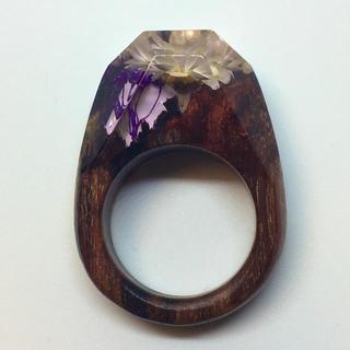 リング#10.5 樹脂+木 指輪(リング(指輪))