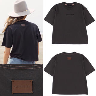 アリシアスタン(ALEXIA STAM)のアリシアスタン 3D Logo tee ロゴ プリント Tシャツ 黒 新作 新品(Tシャツ(半袖/袖なし))