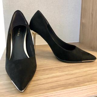 ランダ(RANDA)の美品 ランダ パンプス 22cm 黒(ハイヒール/パンプス)