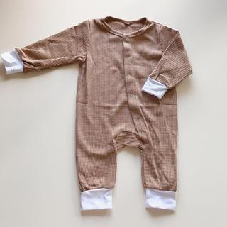 キャラメルベビー&チャイルド(Caramel baby&child )のワッフルロンパース (ロンパース)