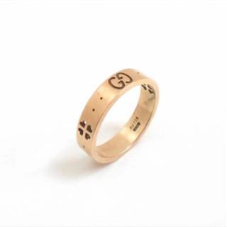 グッチ(Gucci)のGUCCI グッチ アイコンリング K18PG(750) ピンクゴールド 8号(リング(指輪))