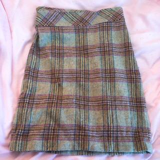 ローラアシュレイ(LAURA ASHLEY)のローラアシュレイ チェック スカート 冬物(ひざ丈スカート)