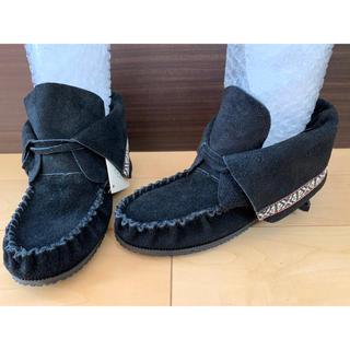 アミモック(AMIMOC)のアミモック モカシン ブーツ カナダ製 上質なハンドメイド ぺたんこ 24(ブーツ)