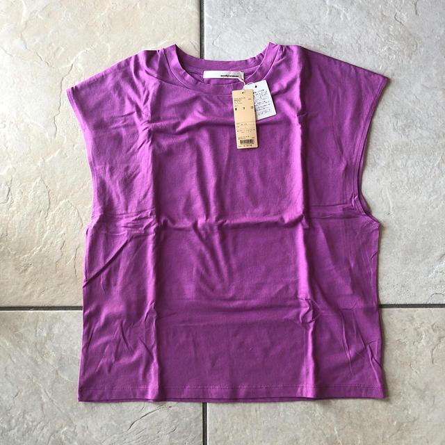 mysty woman(ミスティウーマン)の新品 mysty woman フレンチスリーブ Tシャツ レディースのトップス(Tシャツ(半袖/袖なし))の商品写真