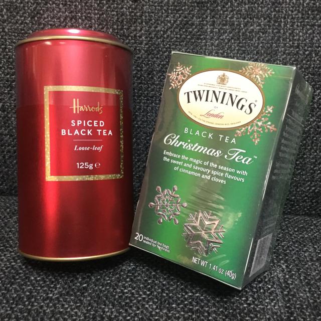 ハロッズ★スパイスド ブラック ティー★クリスマス ティー★紅茶  食品/飲料/酒の飲料(茶)の商品写真