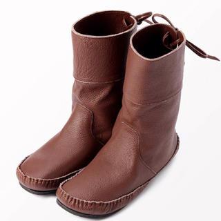 サマンサモスモス(SM2)の2WAYレザーミドルブーツ  ブラウンLサイズ(ブーツ)
