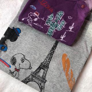 シップス(SHIPS)のSHIPS 親子お揃い スヌーピー7分袖ラグランTシャツ 90 familiar(Tシャツ/カットソー)