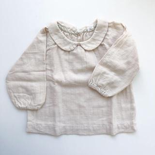 キャラメルベビー&チャイルド(Caramel baby&child )の丸襟ブラウス 12m(シャツ/ブラウス(長袖/七分))