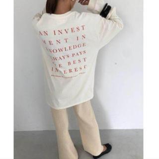 トゥデイフル(TODAYFUL)のTODAYFUL トゥデイフル 大人気完売 ロンT 新品未使用 正規品(Tシャツ(長袖/七分))