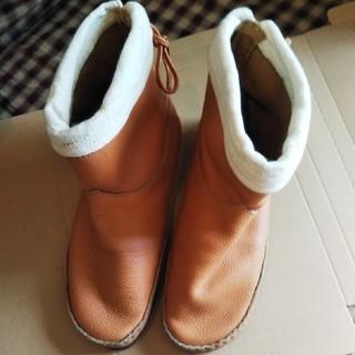 サマンサモスモス(SM2)のSM2サマンサモスモス カタログ掲載 本革ブーツused キャメルL(ブーツ)