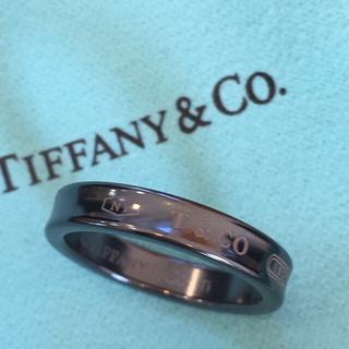 ティファニー(Tiffany & Co.)の美品✨ティファニーブラックチタンリング15号(リング(指輪))
