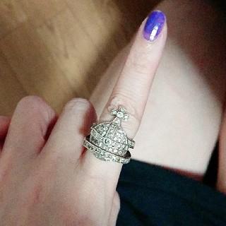 ヴィヴィアンウエストウッド(Vivienne Westwood)の難ありヴィヴィアンウエストウッド初期オーブリング(リング(指輪))