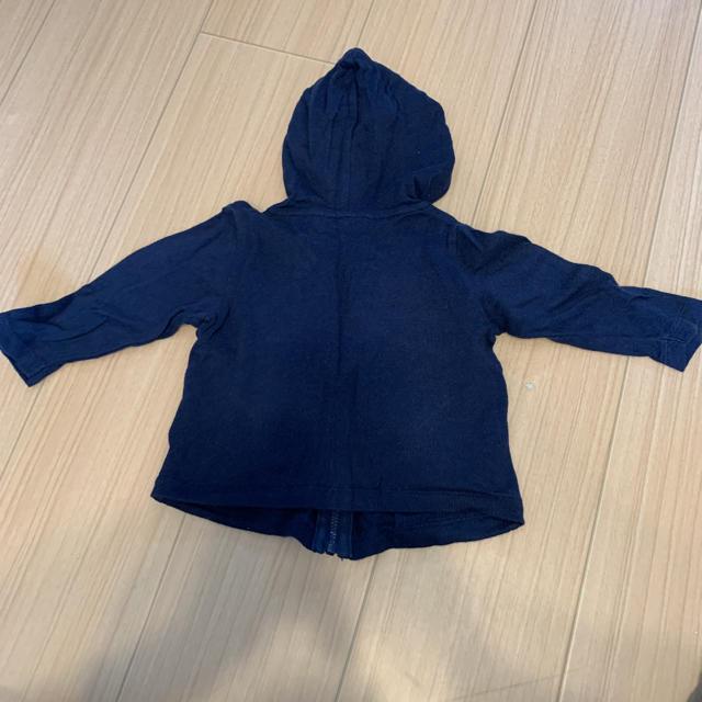 しまむら(シマムラ)のバースデー パーカー 70センチ キッズ/ベビー/マタニティのベビー服(~85cm)(ジャケット/コート)の商品写真