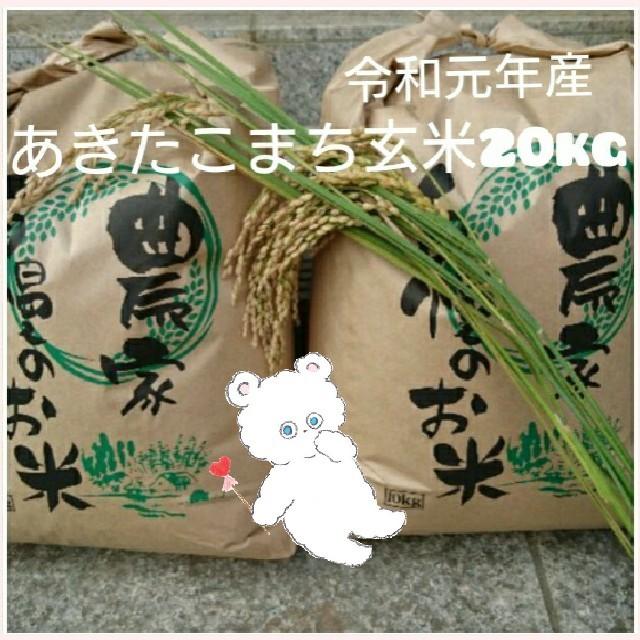 新米 あきたこまち玄米20kg 食品/飲料/酒の食品(米/穀物)の商品写真