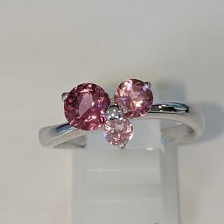 ピンク石3石グラデーション リング(リング(指輪))
