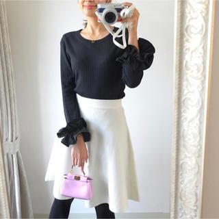 Chesty - akiki リブニットホワイトスカート