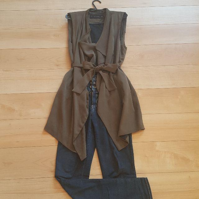 ZARA(ザラ)のZAEA BASIC ロングベスト ジレ レディースのジャケット/アウター(その他)の商品写真