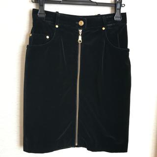クリスチャンディオール(Christian Dior)のフロントジッパー タイトスカート(ひざ丈スカート)