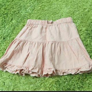 ジーユー(GU)のピンク ストライプ スカート (スカート)