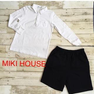 ミキハウス(mikihouse)のMIKI HOUSE シャツカットソー&短パンセット(ドレス/フォーマル)