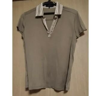 アンタイトル(UNTITLED)のUNTITLED カーキ 襟付きシャツ(シャツ/ブラウス(半袖/袖なし))