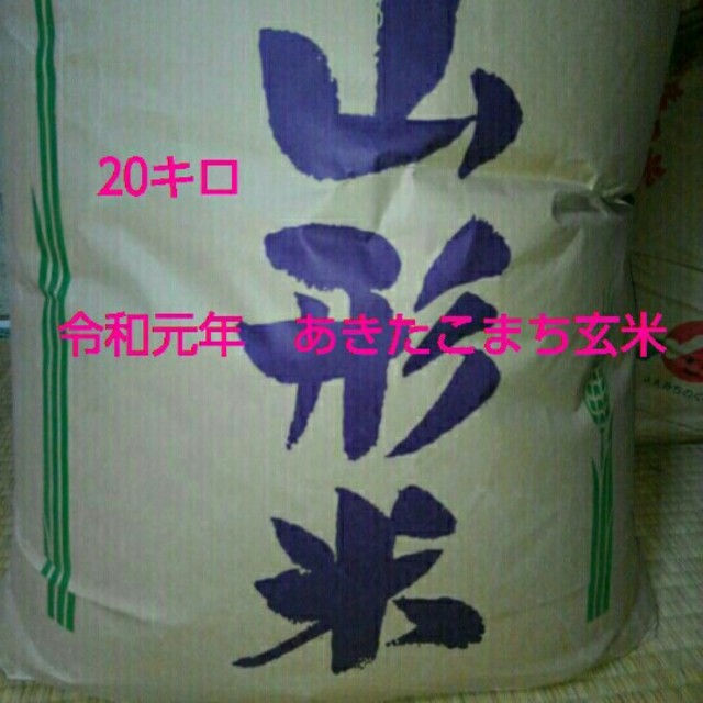 令和元年 あきたこまち玄米 20キロ 食品/飲料/酒の食品(米/穀物)の商品写真