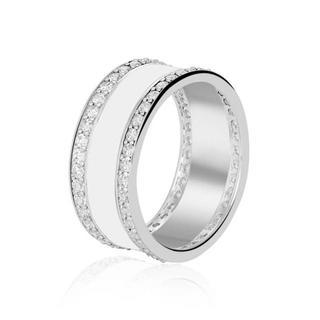 ユニティ バンド リング 指輪 キラキラ おしゃれ 白 シルバー silver(リング(指輪))