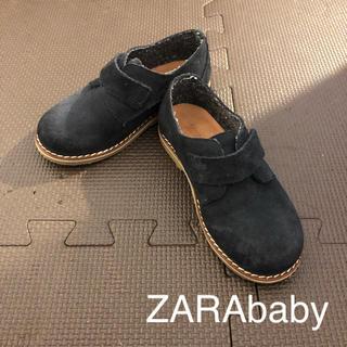 ザラキッズ(ZARA KIDS)のZARAbaby スウェードシューズ 14.5cm相当 ネイビー(ローファー)