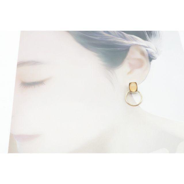Ane Mone(アネモネ)の【R899】ANEMONE アネモネ フープ ストーン ピアス 新品  レディースのアクセサリー(ピアス)の商品写真
