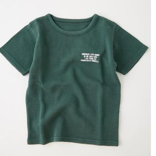ロデオクラウンズワイドボウル(RODEO CROWNS WIDE BOWL)の★ロデオクラウンズ キッズ ピグメント ビッグ ワッフル Tシャツ Mグリーン★(Tシャツ/カットソー)