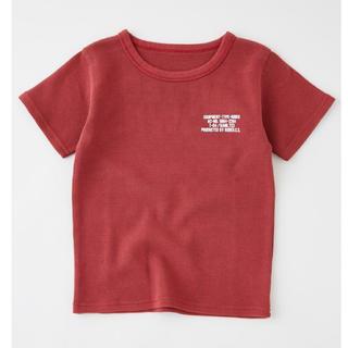 ロデオクラウンズワイドボウル(RODEO CROWNS WIDE BOWL)の★ロデオクラウンズ キッズ ピグメント ビッグ ワッフル Tシャツ Lボルドー★(Tシャツ/カットソー)
