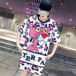【即購入OK】大きいサイズ ピンクパンサーTシャツ(Tシャツ(半袖/袖なし))