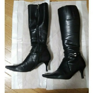 お値下げしました♪細身 上品黒ブーツ(ブーツ)