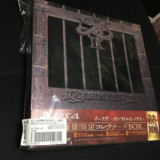 PS4 イース9  数量限定コレクターズBOX サントラ付き エンタメ/ホビーのゲームソフト/ゲーム機本体(家庭用ゲームソフト)の商品写真