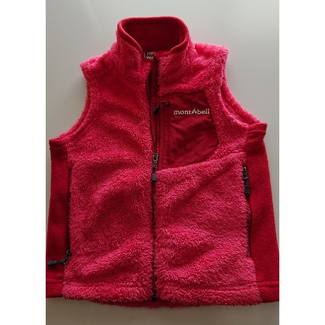 mont bell(モンベル)のキッズ100 もこもこベストmont bellモントベル キッズ/ベビー/マタニティのキッズ服 女の子用(90cm~)(ジャケット/上着)の商品写真