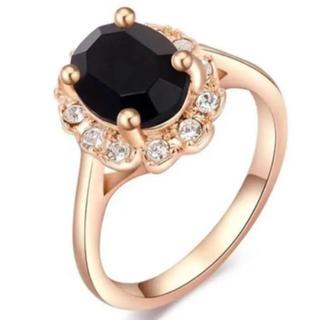 ブラック宝石 リング(リング(指輪))