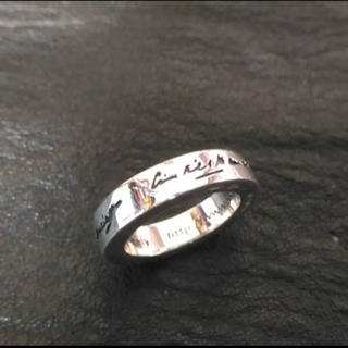 バレンシアガ(Balenciaga)のBALENCIAGA URLリング シルバーリング シルバー925 指輪 美品(リング(指輪))