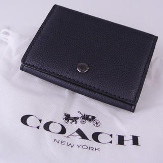 コーチ(COACH)の新品 コーチ カードケース F30433 ミッドナイトネイビー(名刺入れ/定期入れ)